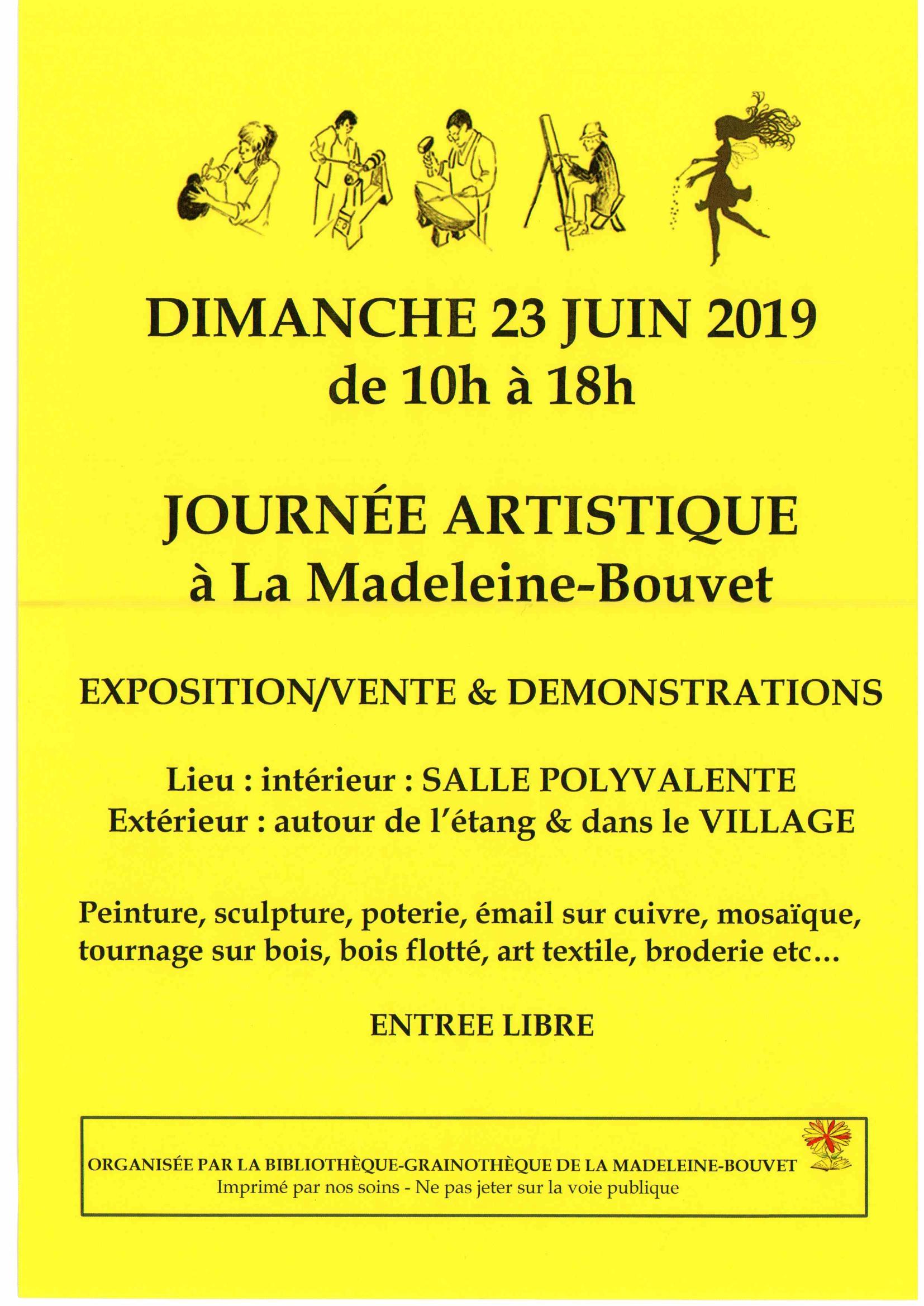 Journée Artistique Dimanche 23 juin 2019
